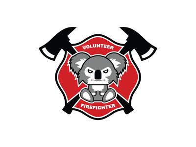 Koala Bear Firefighter