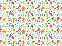Floral pattern fill