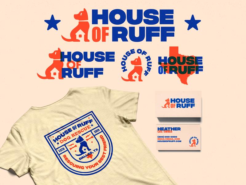 House Of Ruff Design web typography branding logo design illustration