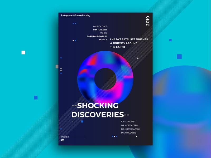 Poster Design 01 - Space Theme B graphic design typography layout design space rebound