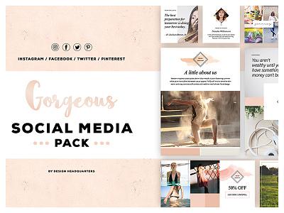 Gorgeous Social Media Creative Pack creative market ux ui template start up social media photography instagram graphic designer design beautiful