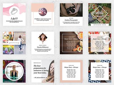 Gorgeous Social Media Creative Pack social media instagram business start up mock up creative template