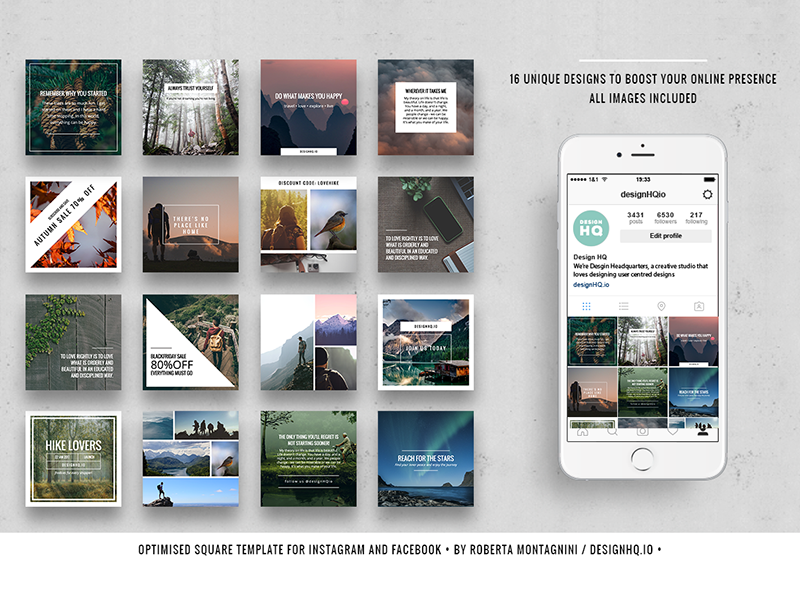 Wonderful Social Media Pack start up instagram photography beautiful designer design ui ux graphic template social media