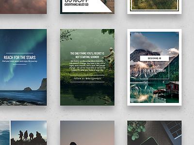 Pinterest  – Wonderful Social Media Pack start up instagram photography beautiful inspiration design ui ux graphic template social media pinterest
