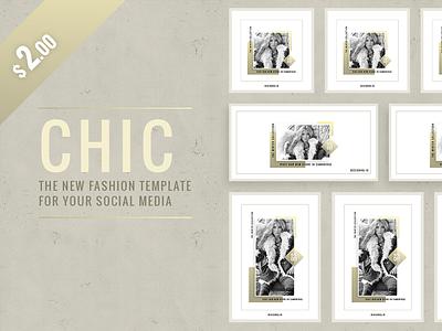 CHIC Social Media Template Pack start up instagram photography beautiful designer design ui ux graphic template social media