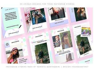 Instagram Stories - Colourful the best facebook social media instagram template instagram stories creative market