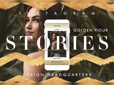 INSTAGRAM STORIES GOLD FOIL TEMPLATE