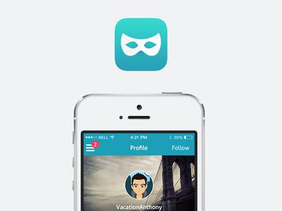 Anomo Profile app ui ux mobile profile icon social