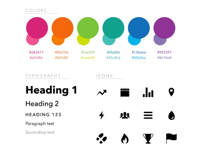 Yoo Style Guide colors typography icons style guide branding
