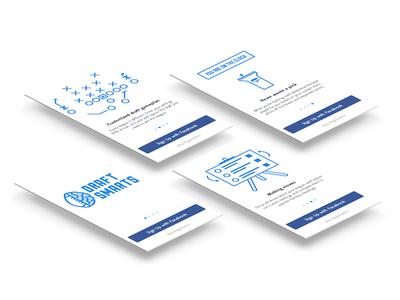 DraftSmarts Onboarding app ui ux mobile onboarding walkthrough features illustration draftsmarts