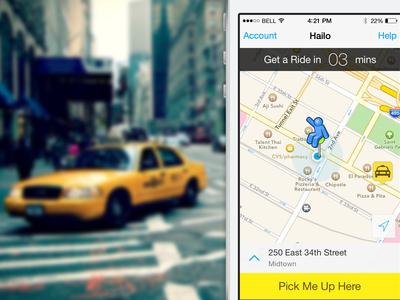 Hailo iOS Homescreen app ui ux mobile ios iphone home homescreen taxi hailo transportation