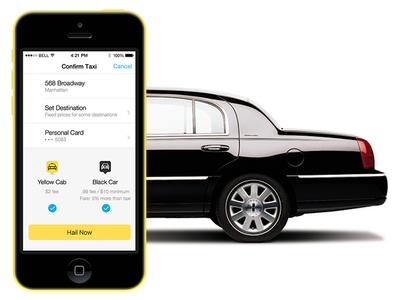 Hailo iOS Black Car app ui ux mobile ios iphone selection hailo transportation