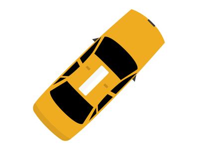 Hailo NYC Taxi Illustration illustration sketch taxi car