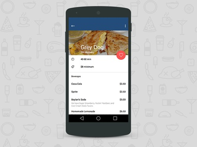 Takeout Material Design Concept takeout material design material android restaurant ui ux flat list menu app mobile