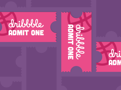 Dribbble Invites (3) invitation ticket prospect invite dribbble