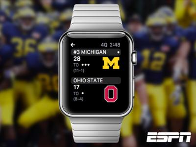 ESPN Apple Watch (Concept) michigan ux ui wearable espn apple watch apple watch