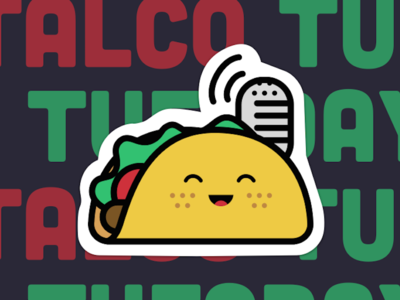 Talco Tuesday Sticker