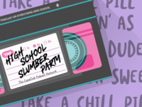 High School Slumber Party podcast graphic