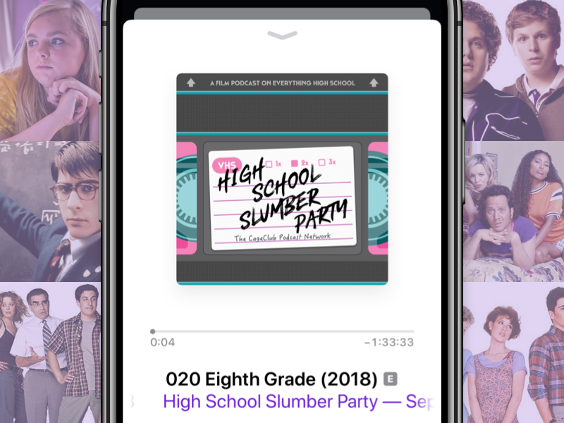 High School Slumber Party icon illustration ios movies podcast icon