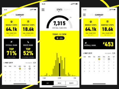 Fi Activity Summary chart activity ios mobile app ux ui