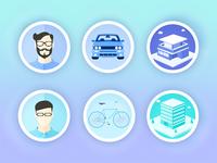 Flat illustration Icon