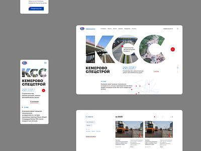 Construction company flat screens concept mobile desktop minimal promo website web interface design ux ui