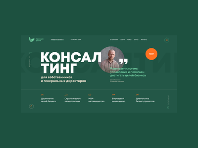 Consulting company flat promo clean website minimal web interface design ux ui