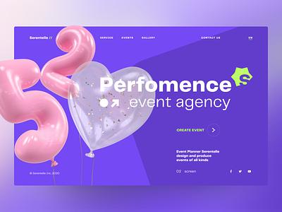 Event agency – Promo event agency website desktop promo web design minimal interface design ux ui