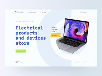 Device Store – Promo promo web design clean website minimal web interface design ux ui