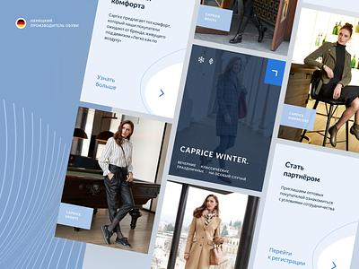 Fashion card blue cards fashion promo clean minimal web design