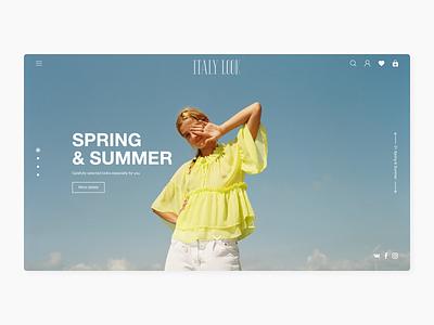 ITALY LOOK - clothes showroom branding logo promo website minimal web ux design ui