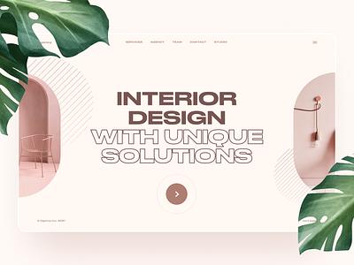 Interior agency photos web branding digital agency interior website minimal concept promo