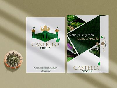 Castello Group Folder folded paper planets folder design folder logo branding design minimal