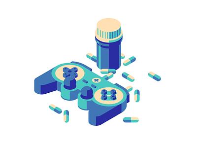 Therapeutic games hospital game gamepad pill medicine drug usbek et rica
