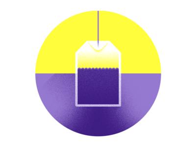 Lancôme – Tea luxury lancome cosmetic yellow purple texture illustration tea water beauty bag 84.paris