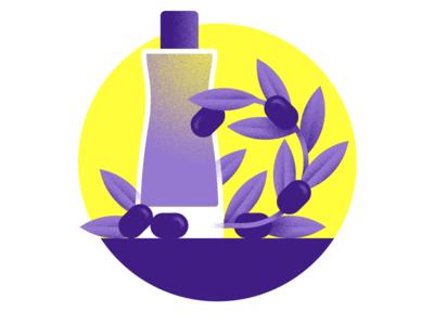 Lancôme – Essential oils lancome cosmetic yellow purple texture illustration oil essential olive bottle 84.paris luxury