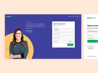 Easywebinar: Sign Up