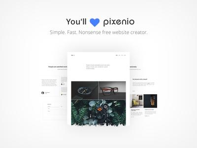 You will ❤️ Pixenio web cms webdevelopment trend webdesign website