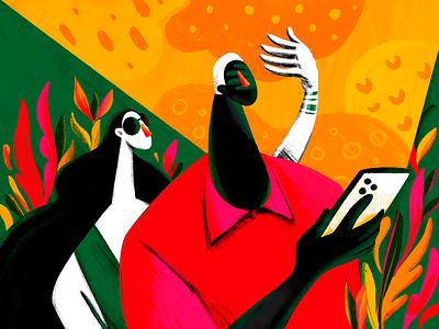 UX Blindness Illustration blind procreate mobile couple people illustration user experience illustrations interaction design blog illustration user experience design design process illustration art digital painting digital illustration illustrator design studio illustration graphic design digital art design