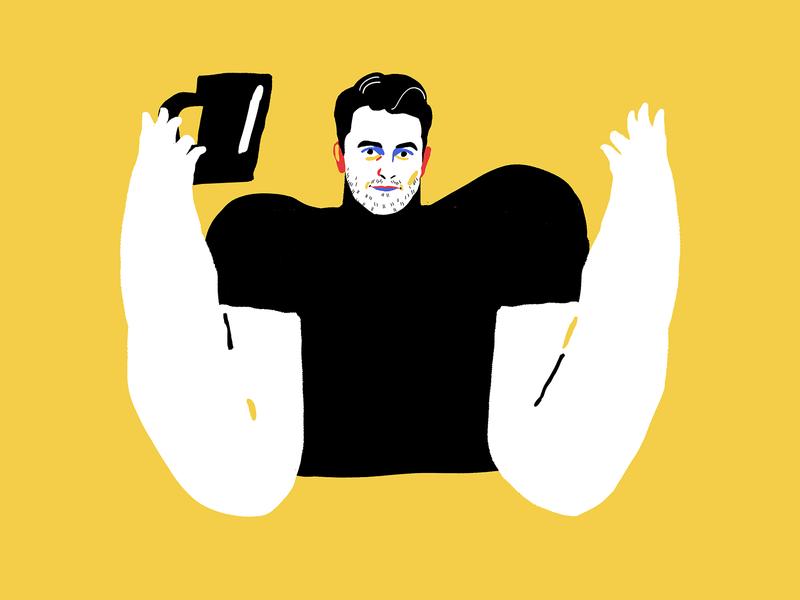 Tubik Team: Sergii illustrations tea portrait art portrait illustration man illustration man designer tubik tubik team portrait character illustration art digital painting digital illustration illustrator design studio illustration graphic design digital art design