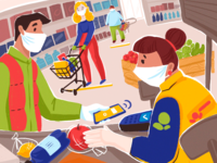 Shopping Safely Illustration