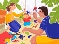 Family Time Illustration