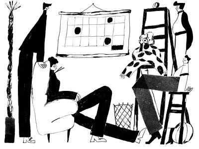 Design Job Illustrations work teamwork people illustration characters creative illustration design process designers art monochrome black and white illustrations illustration art digital painting digital illustration illustrator design studio illustration graphic design digital art design