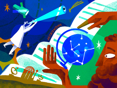Science Illustrations: Astronomy universe artwork illustrations science illustration scientific illustration scientists research education astronomy science creative illustration illustration art digital painting digital illustration illustrator design studio illustration graphic design digital art design