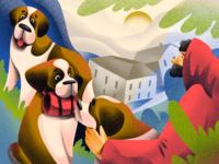 Dog Breeds: St. Bernard illustrations animal illustration rescue monk breeds pets animals dog illustration dogs dog procreate illustration art digital painting digital illustration illustrator design studio illustration graphic design digital art design