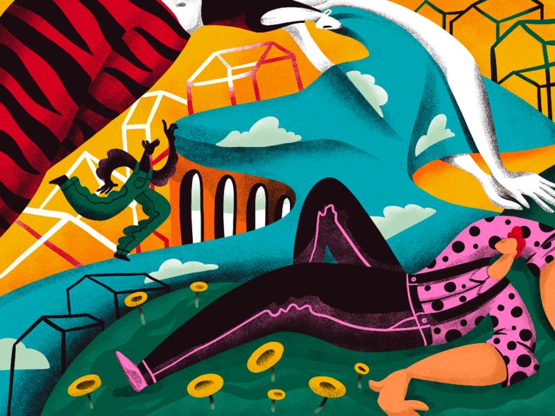 Summer Dreaming Illustrations artwork nature illustration nature summer characters people dreams dreaming sleeping illustrations procreate illustration art digital painting digital illustration illustrator design studio illustration graphic design digital art design
