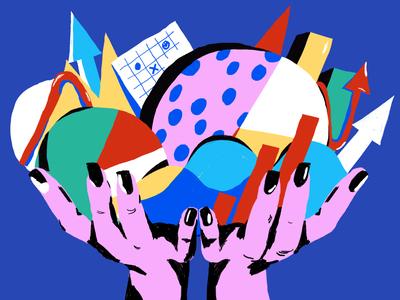 Data Visualization Art stats digital illustrations illustrations blog design hands analytics infographics data visualization blog image blog illustration creative illustration illustration art digital painting digital illustration illustrator design studio illustration graphic design digital art design