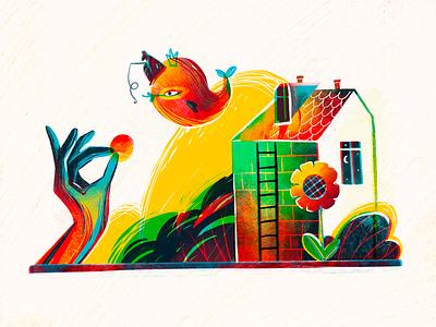 Home Sweet Home Illustration house illustration fish magic fairytale wonderland wonderful home house digital illustrations procreate character illustration art digital painting digital illustration illustrator design studio illustration graphic design digital art design
