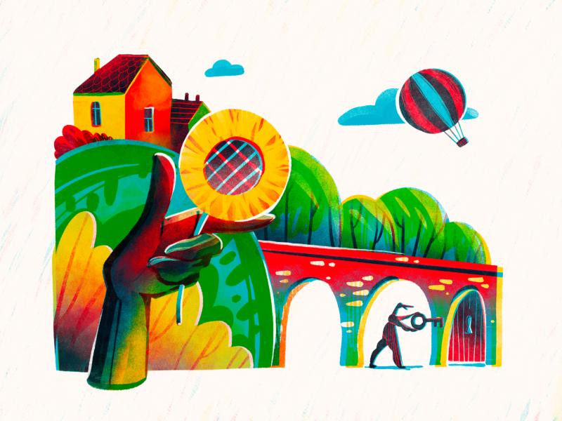 Warmth of Home Illustration digital illustrations illustrations home house nature dreams fairytale summer warm procreate character illustration art digital painting digital illustration illustrator design studio illustration graphic design digital art design