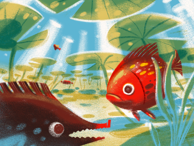 Animal World: Fish Illustration procreate art creative illustration nature digital artwork illustrations animal sea underwater animals fish procreate illustration art digital painting digital illustration illustrator design studio illustration graphic design digital art design
